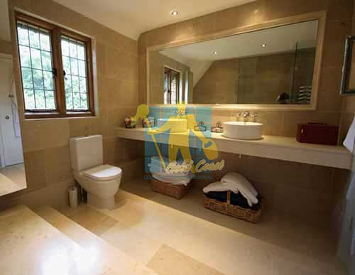 Gold Coast limestone floor tile siena honed bathroom