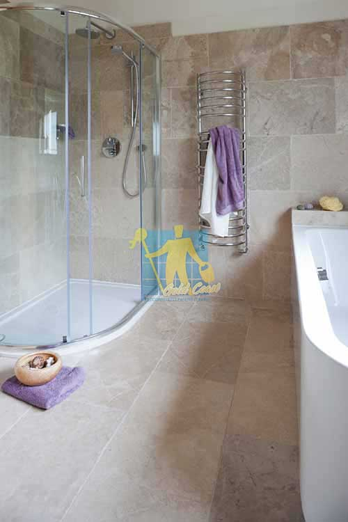 Gold Coast limestone tile sample classic almond tumbled bathroom tiles