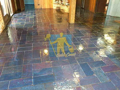 Slate Tile Stripping & Sealing - After Stripping & Sealing