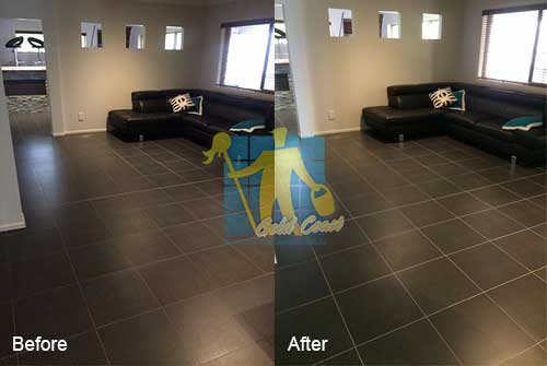 porcelain floor tiles before and after cleaning