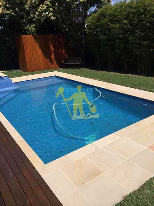 Gold Coast professional cleaned sandstone around pool