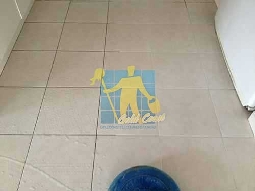white ceramic tile grout cleaning before after