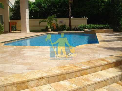 Polished Travertine Stone Tile Sample Sealer Gold Coast