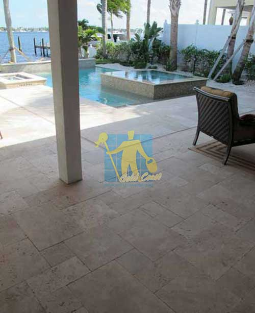 Polished Travertine Stone Tile Sample Sealer