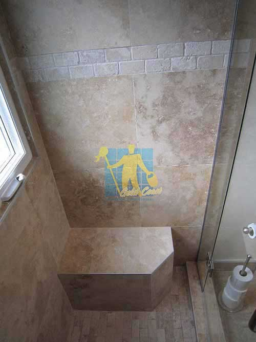 travertine tiles floor wall bathroom natural stone shower with seat